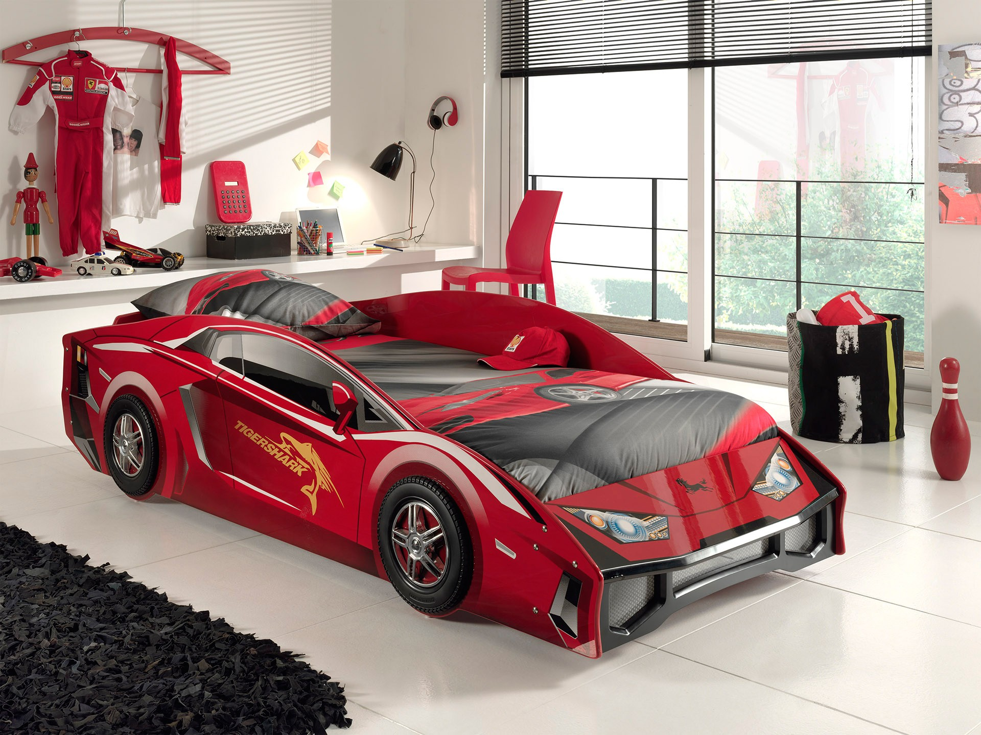 Autobed Lambo - rood