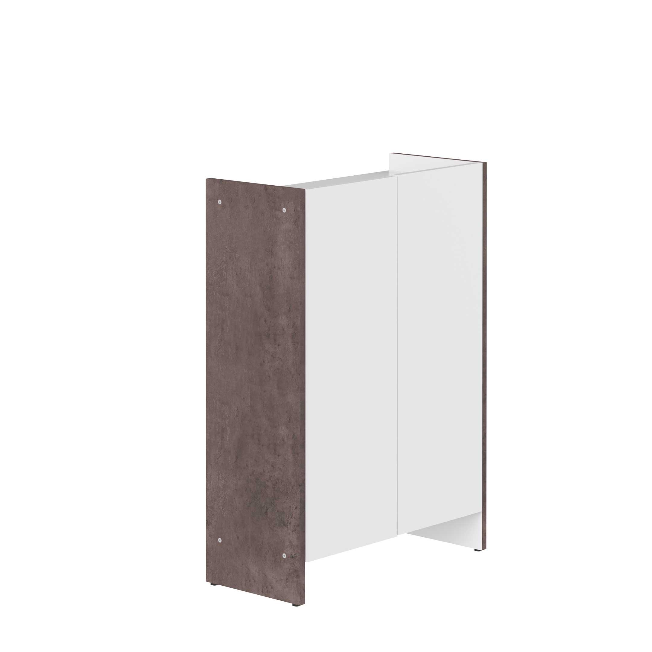 Badkamerkastje Biarritz wit beton