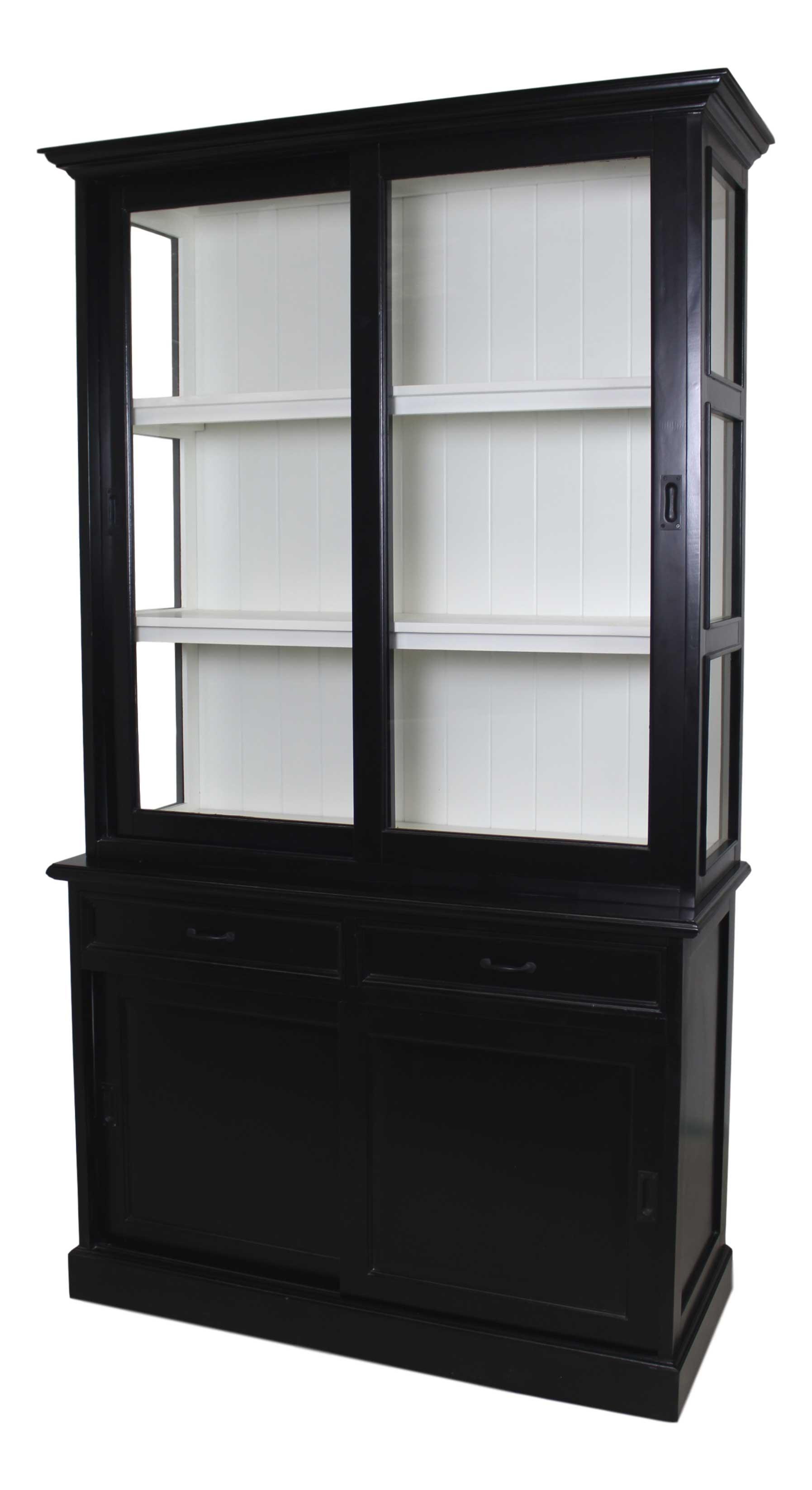 Winkelkast Mahonie hout -Wit 2-schuifdeur HSM Collection