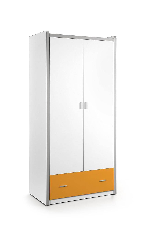 Vipack 2-deurs kledingkast Bonny oranje