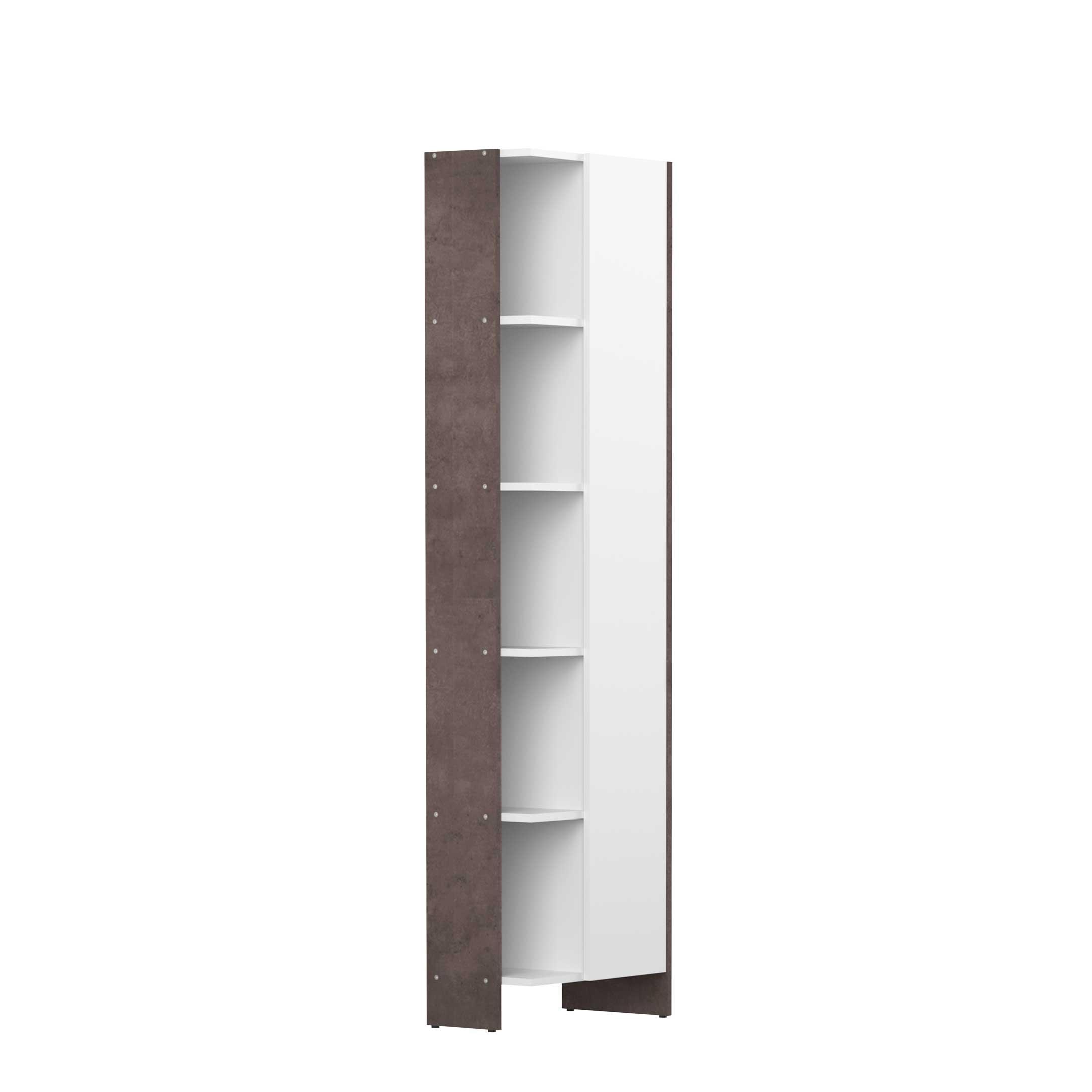 Kolomkastje Biarritz 1 deur wit beton