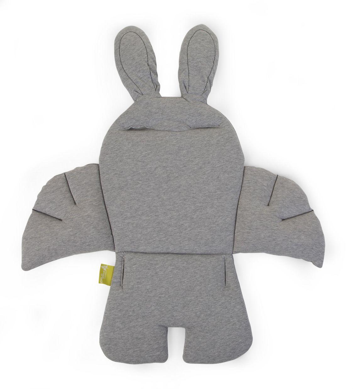 Rabbit stoelkussen jersey grijs