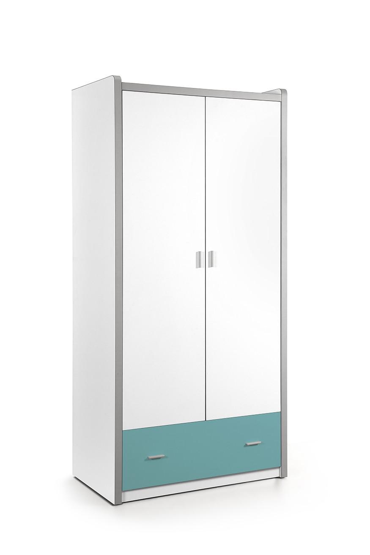 Vipack 2-deurs kledingkast Bonny turquoise