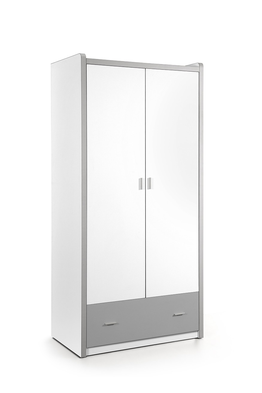 Vipack 2-deurs kledingkast Bonny zilver