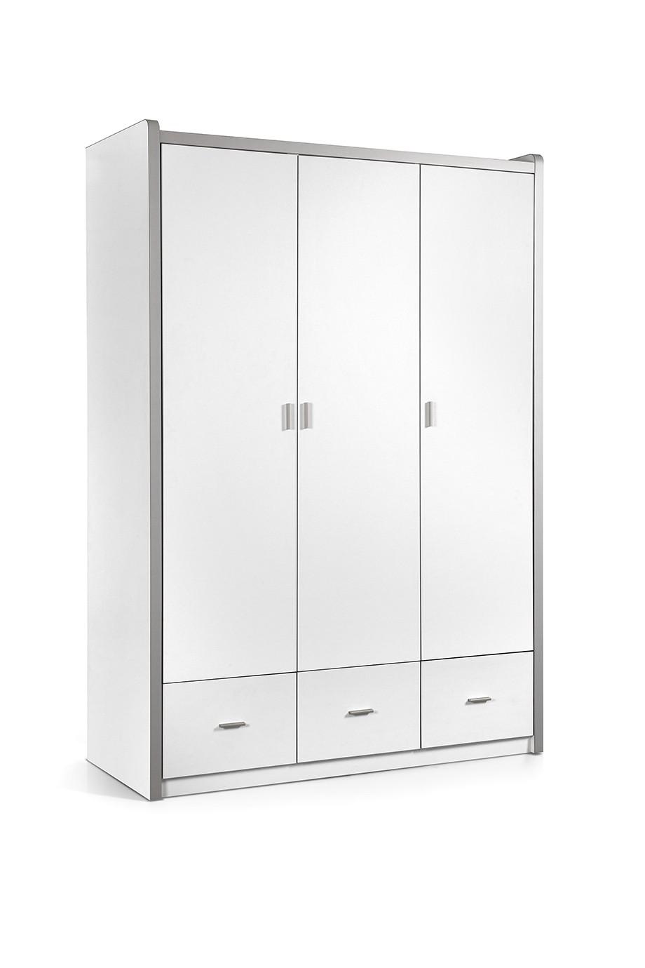 Bonny 3 deurs kledingkast wit