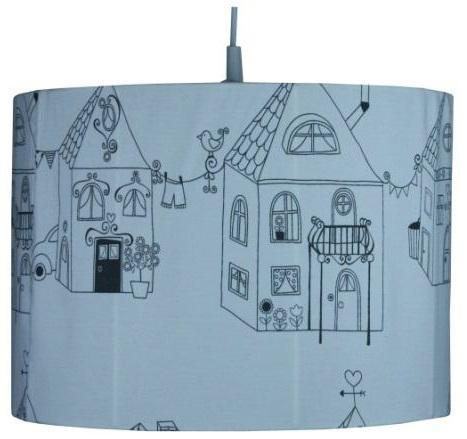Hanglamp Home sweet Home grijs