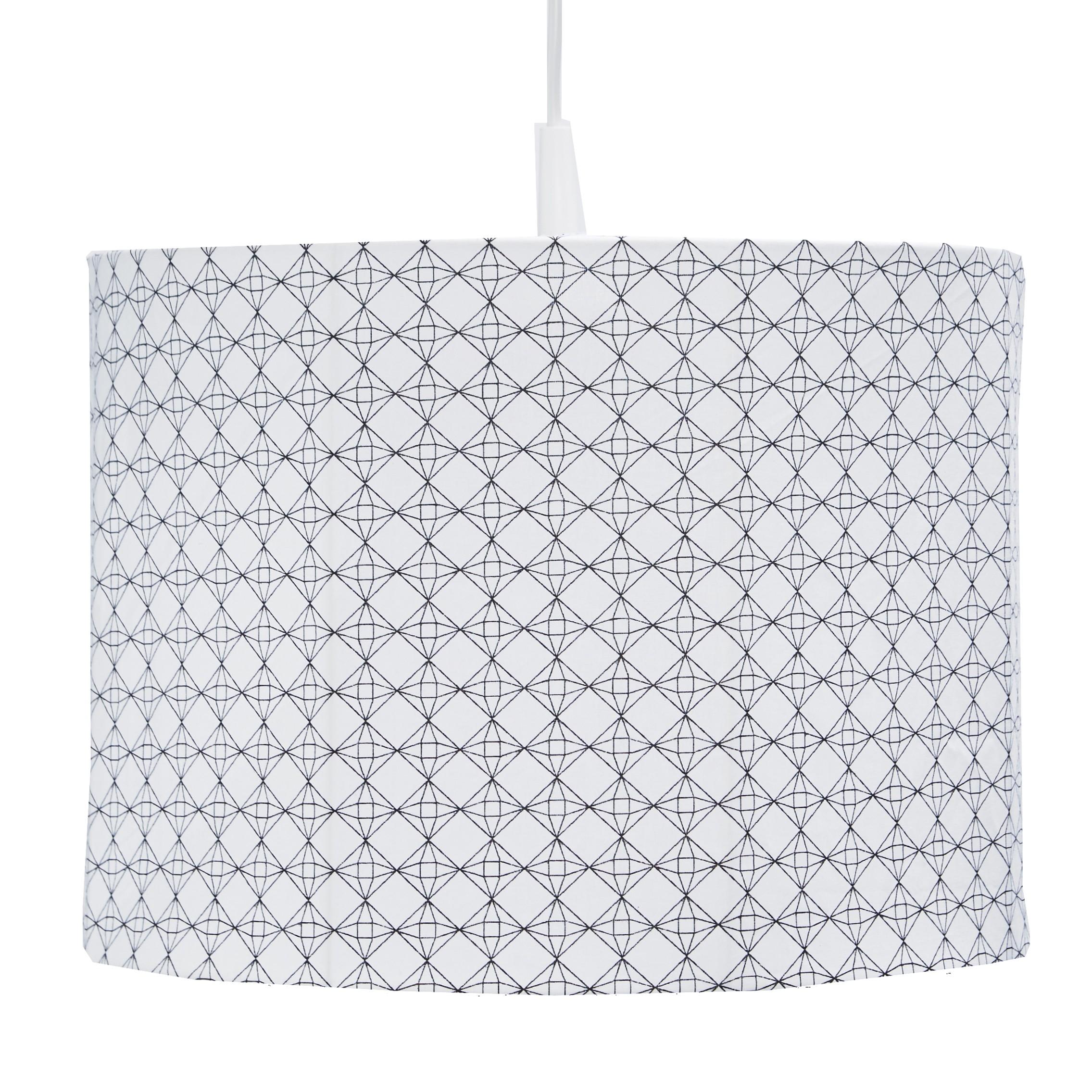 Hanglamp Diamond - wit/zwart