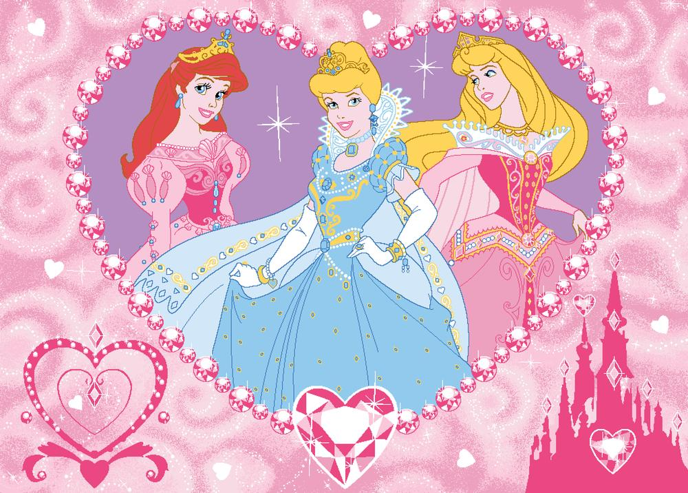 Vloerkleed Disney Princess Jewels