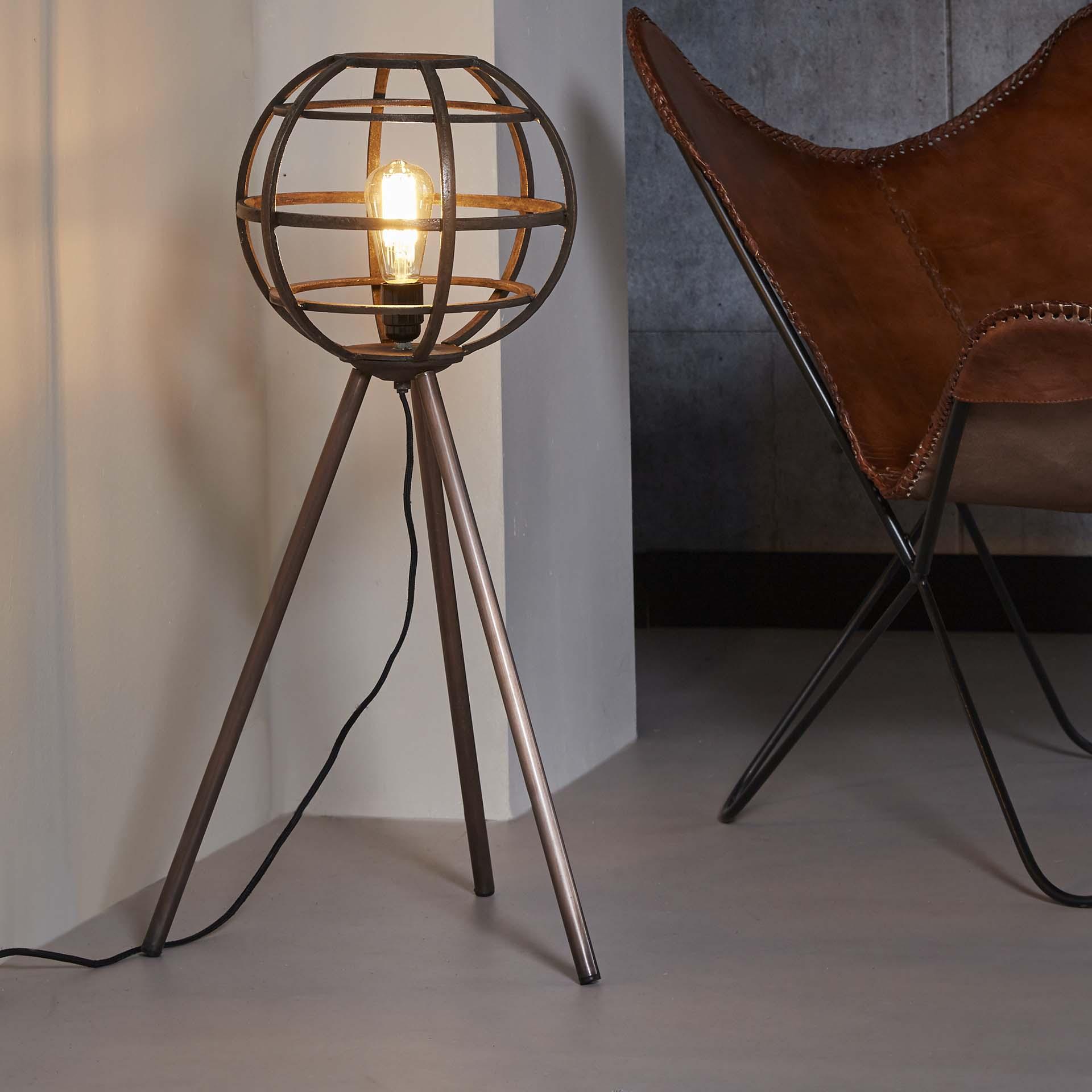 Vloerlamp Ø30 globe - Antiek koper finish