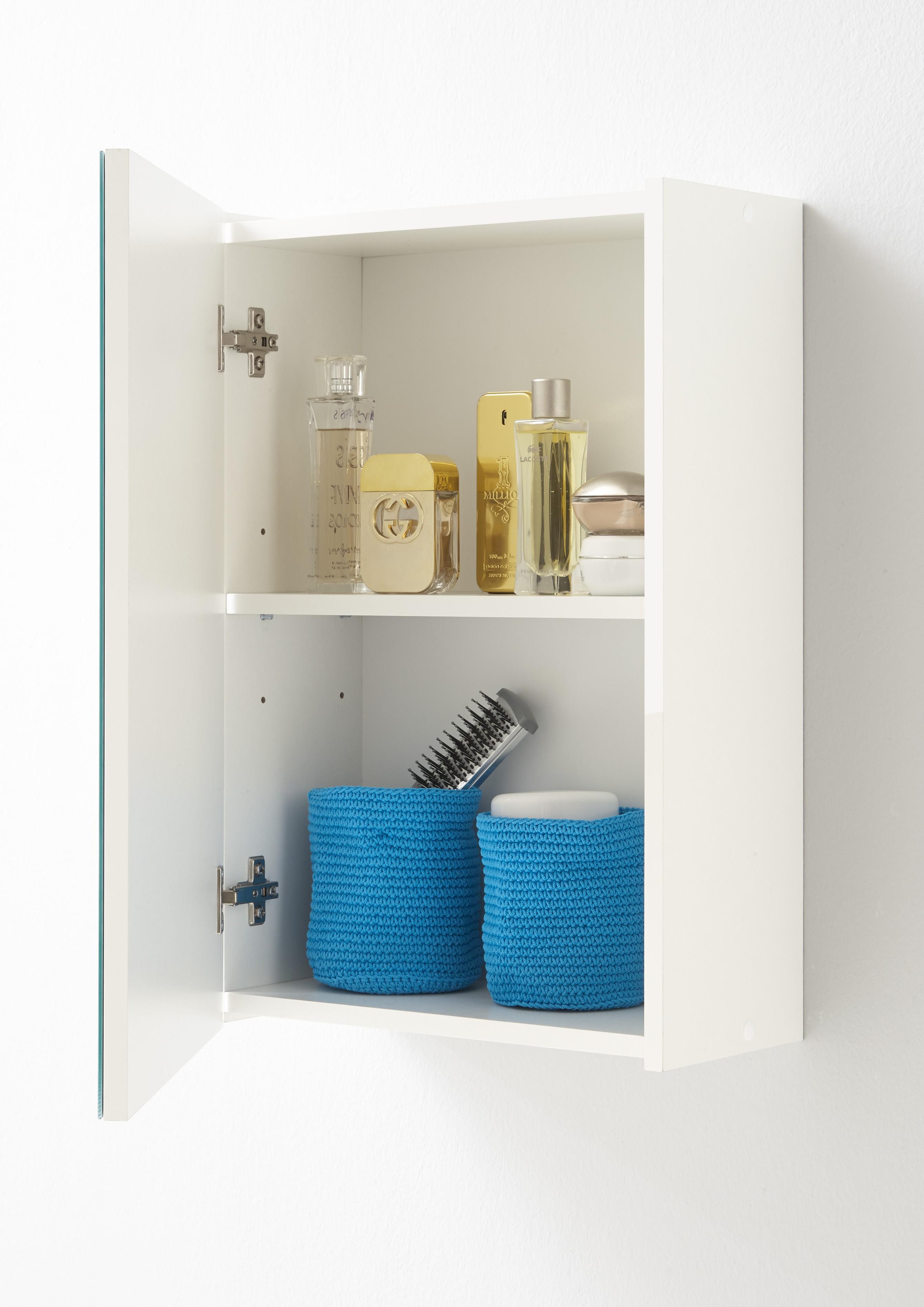 goedkope Badkamerkast Elda inclusief spiegel FMD Wit FMD932-001