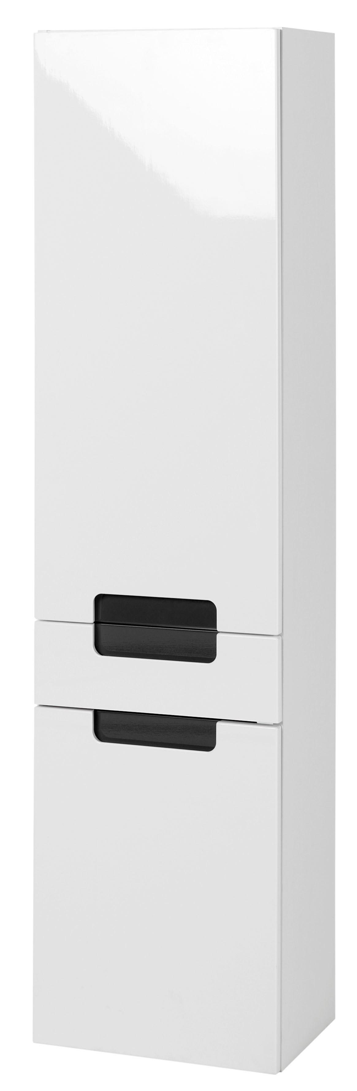 hoog smal kastje Siena 40cm wit antraciet