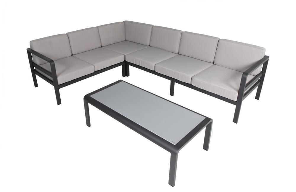 Modulaire loungeset Milton zwart