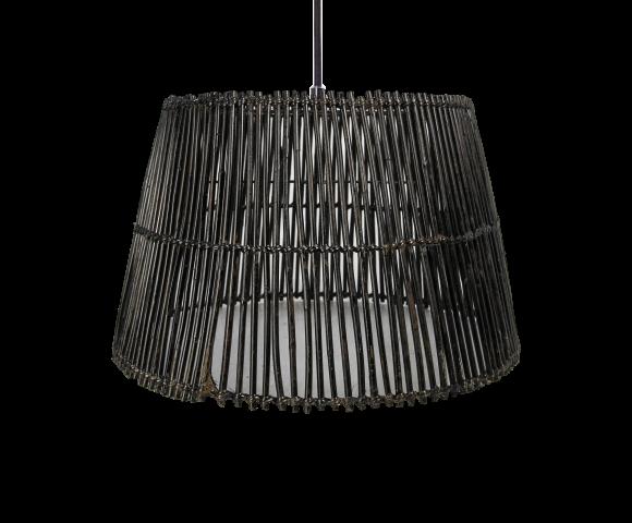 Hanglamp - ø33 cm - rotan - black wash