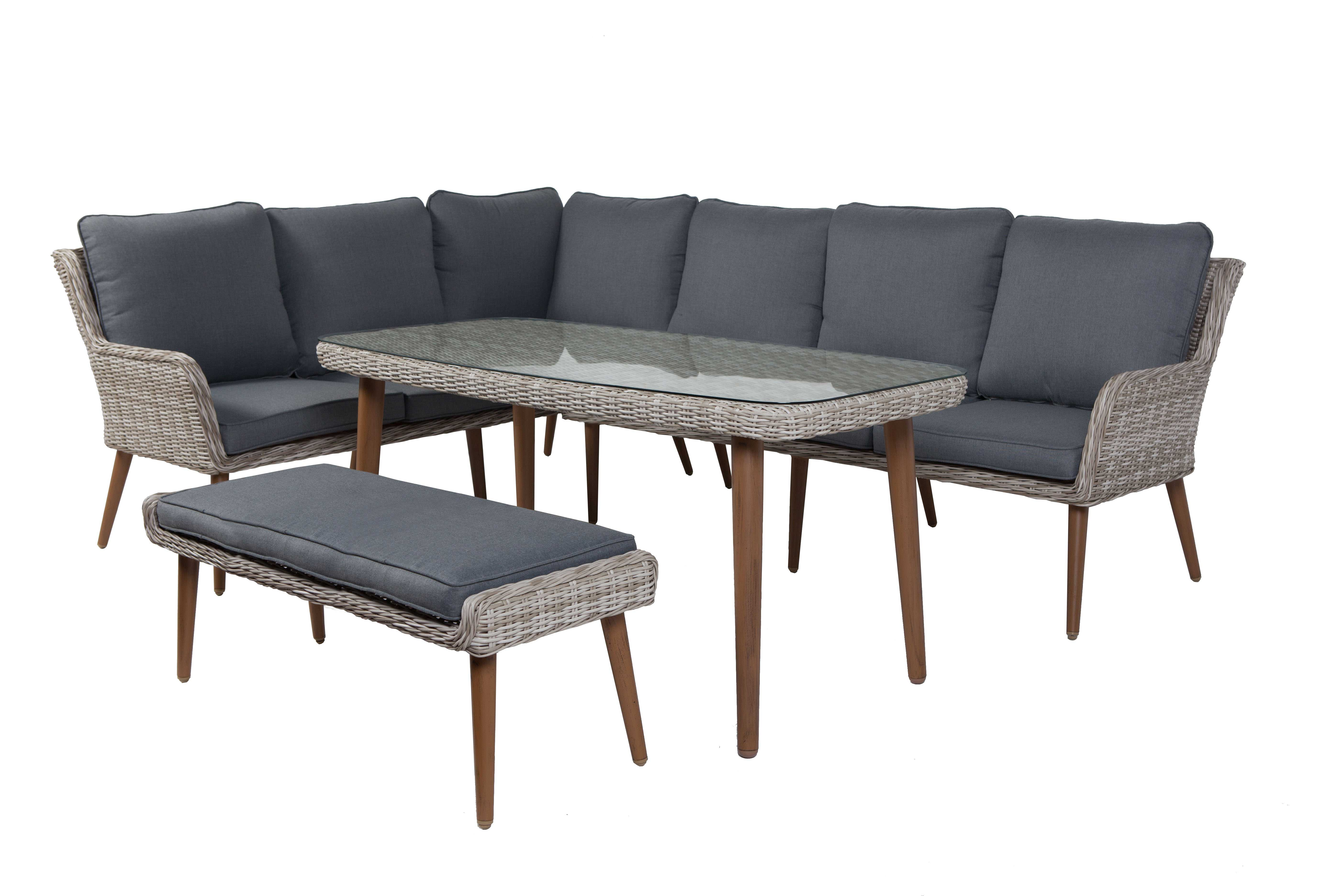 Loungeset Columbia high dining hoekset