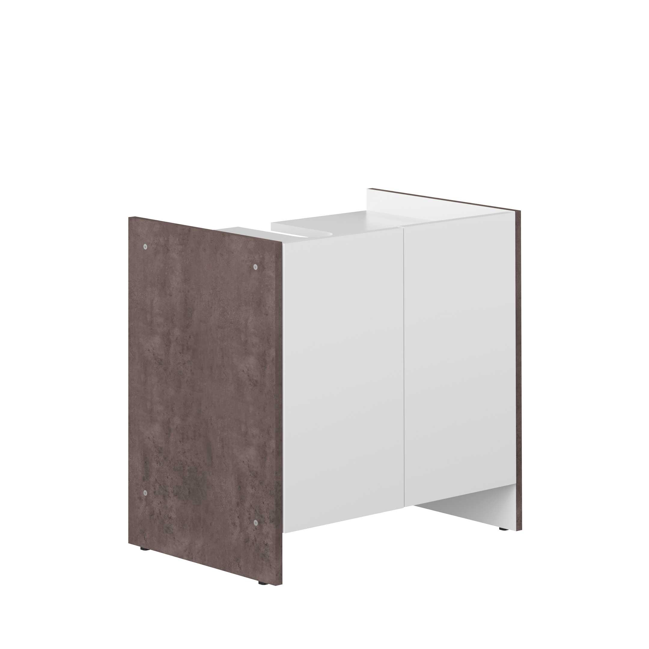 Wastafelkastje Biarritz wit beton