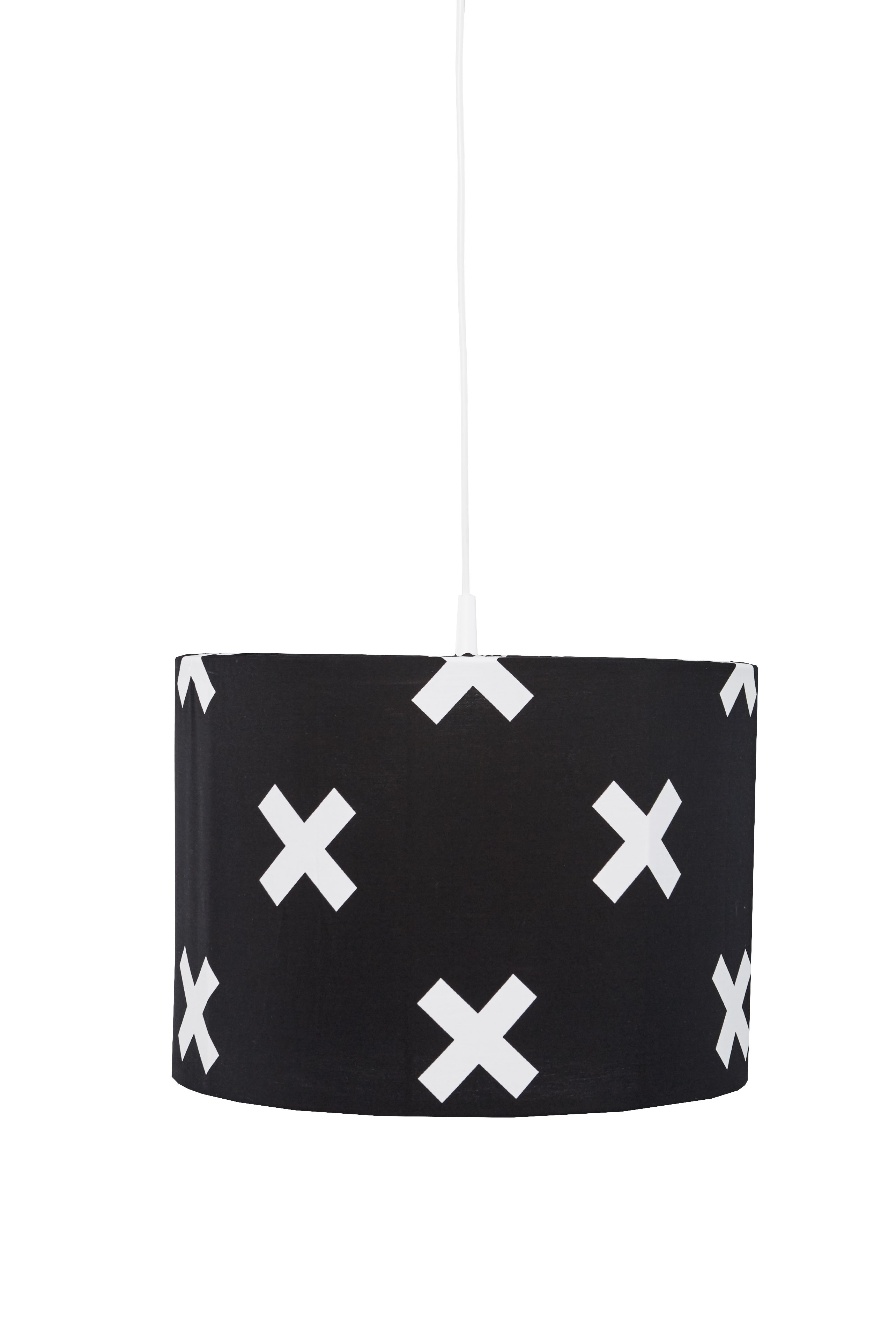 Hanglamp Cross - zwart/wit