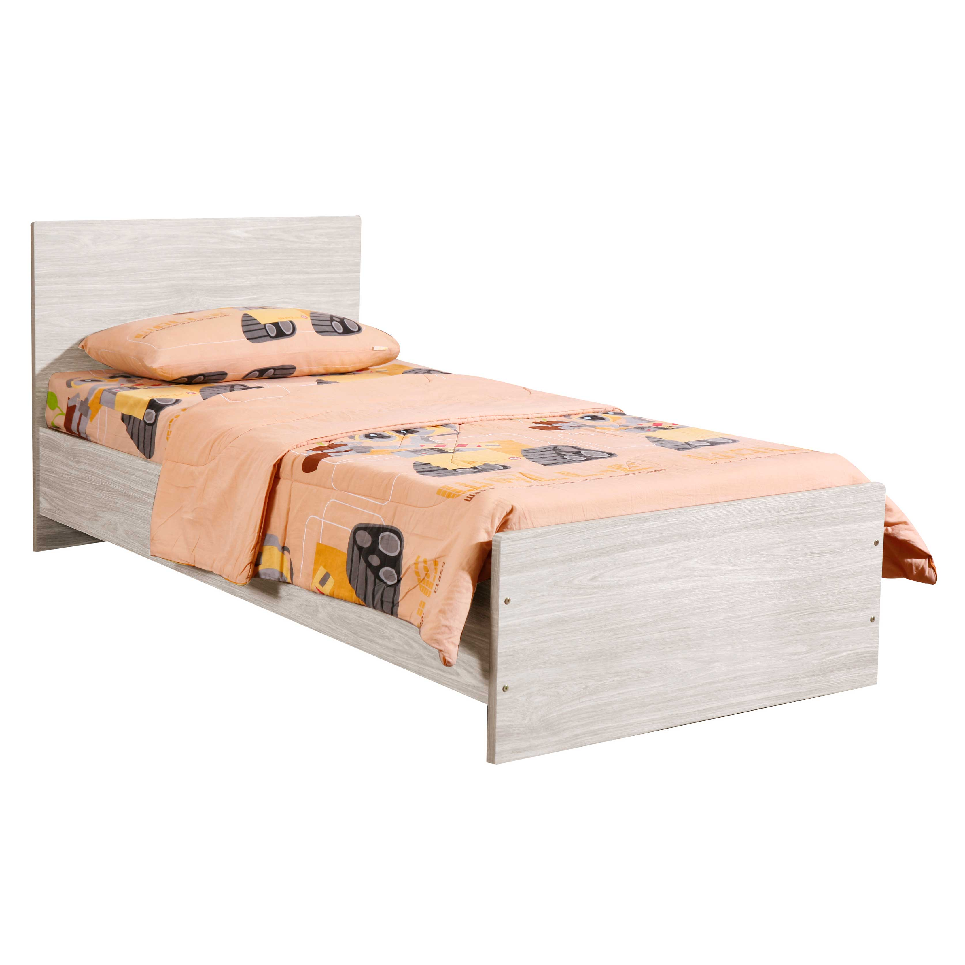 Bed Tomorrow 90x200 cm - eik/grijs