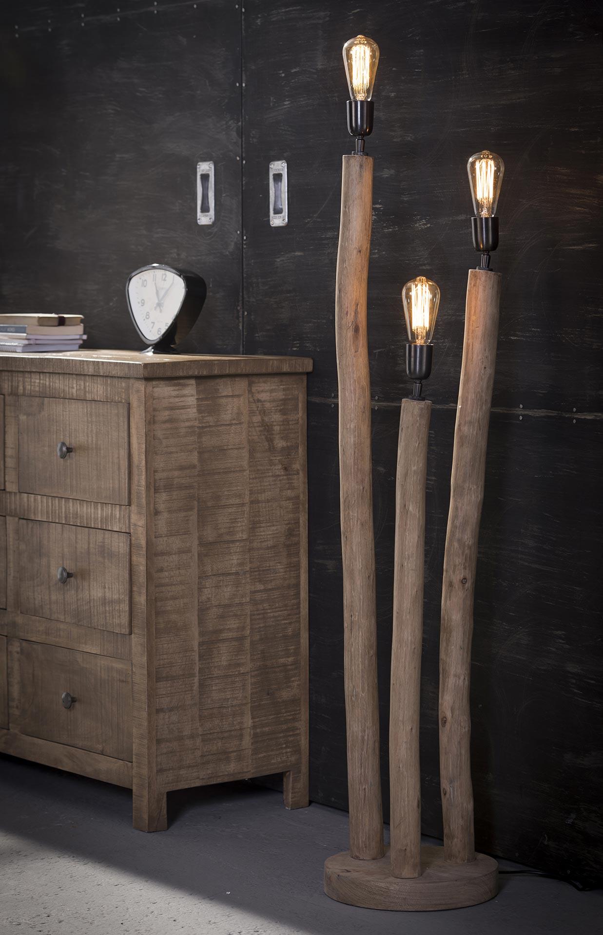 Vloerlamp 3x eucalyptus - Eucalyptus