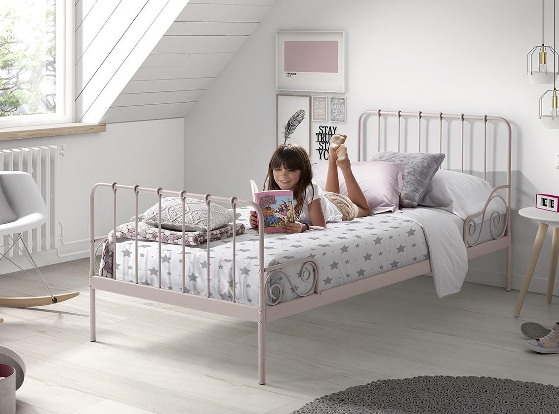 Eenpersoonsbed Alice (90 x 200) Roze