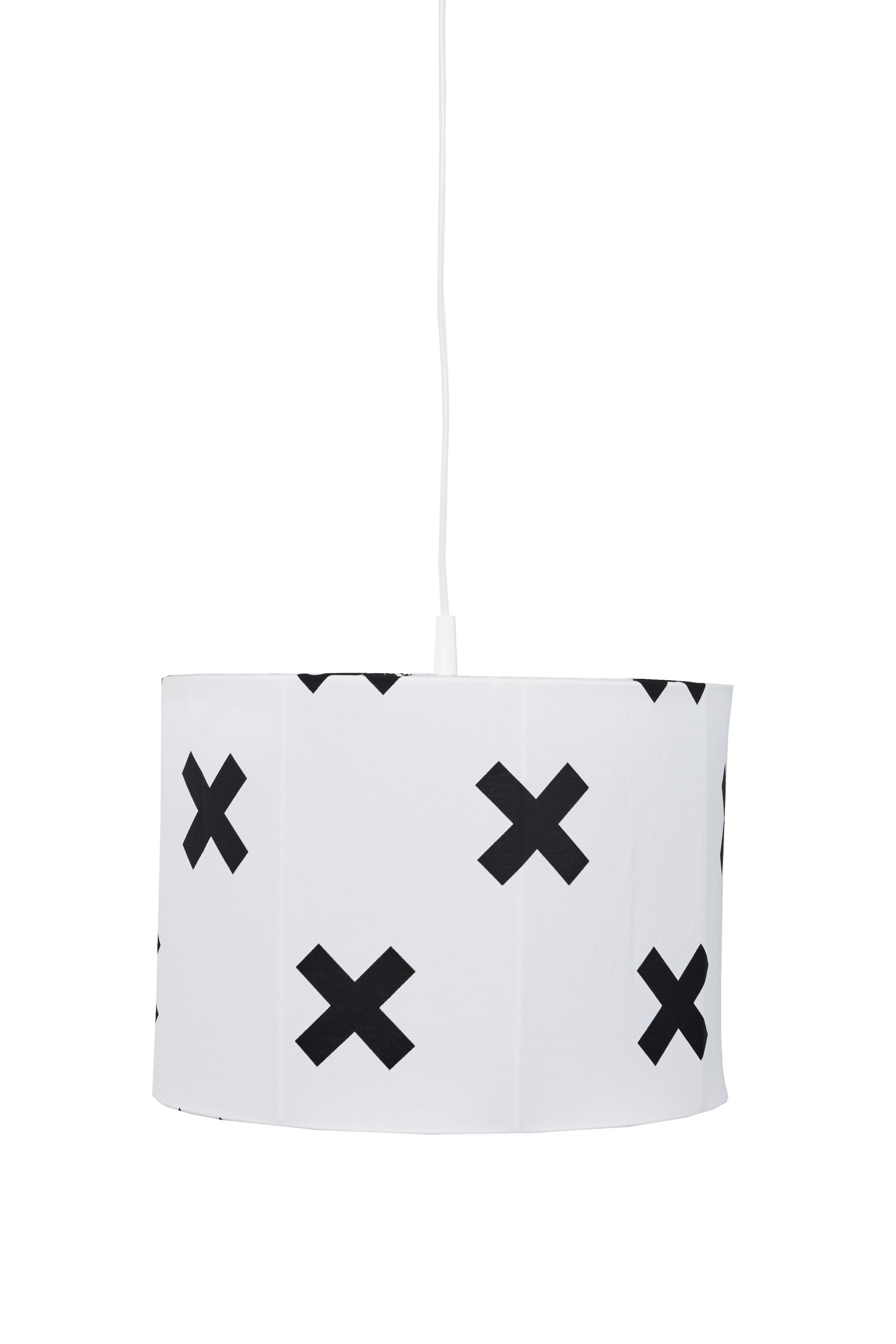 Hanglamp Cross - wit/zwart