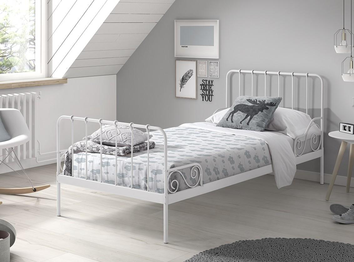 Eenpersoonsbed Alice (90 x 200) Wit