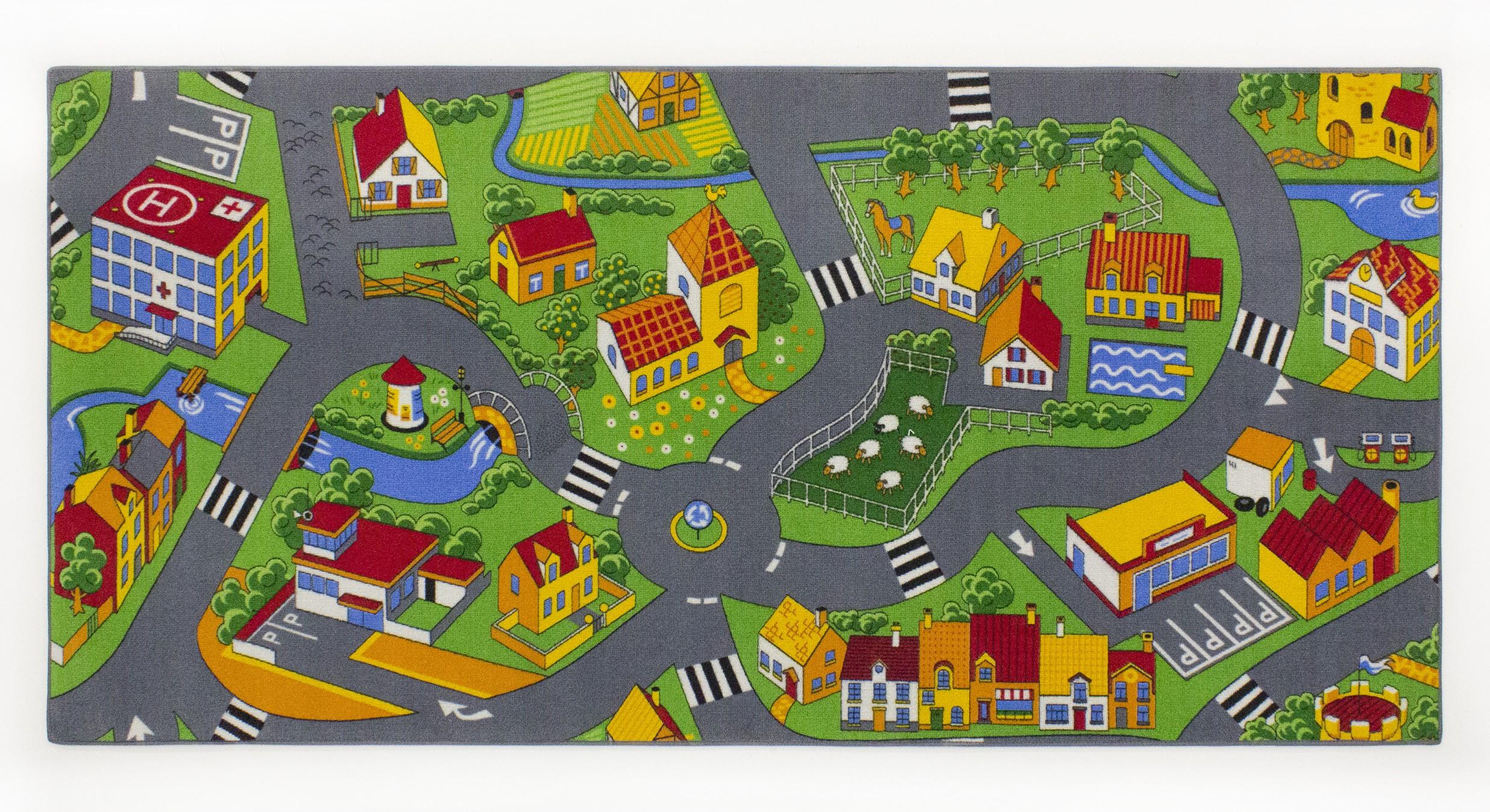 Tapijt Little village 95 x 200cm