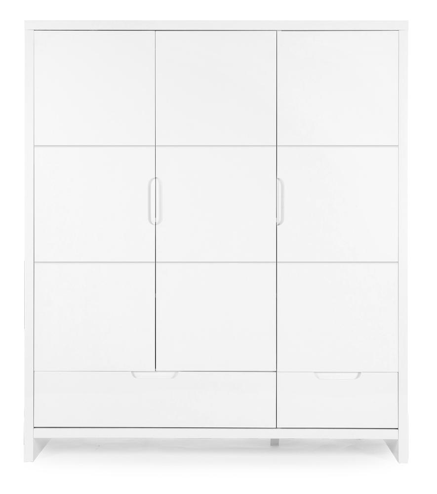 Kledingkast 3 deuren Quadro white
