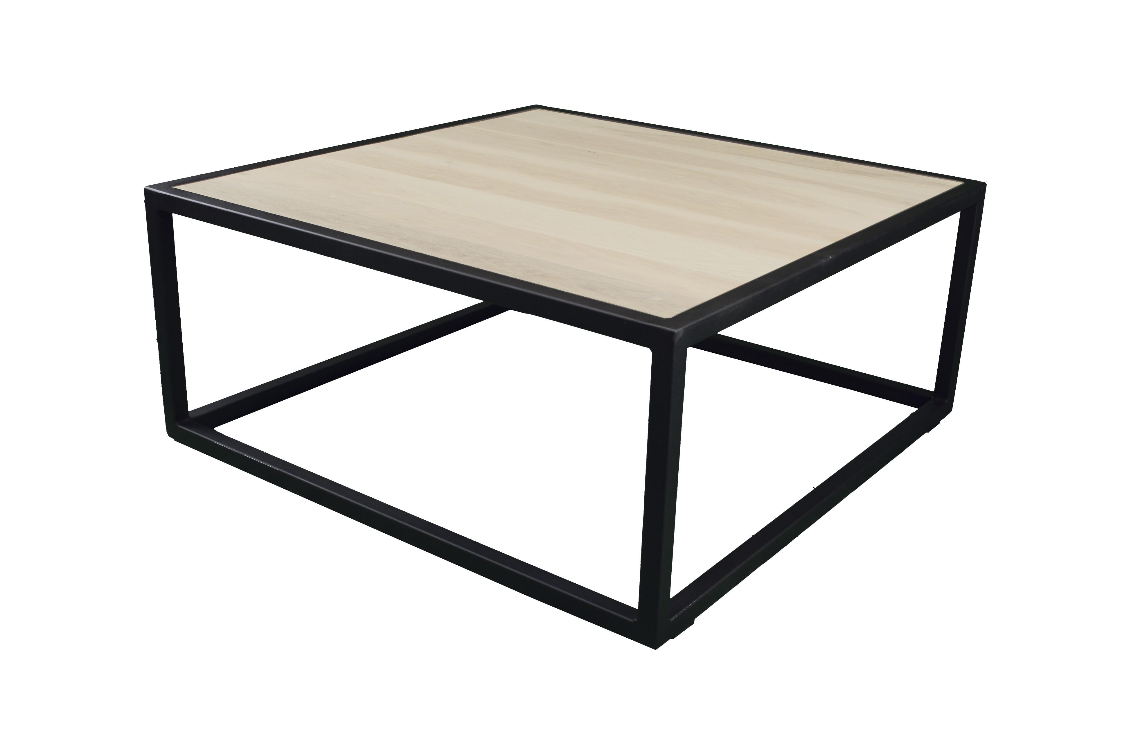 Spinder Design Diva Salontafel 80x80x35 Zwart