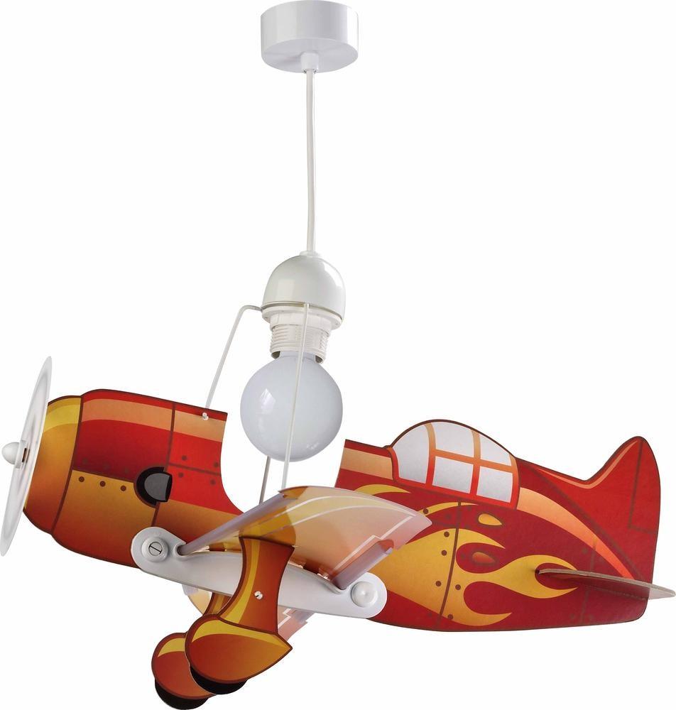 Hanglamp vliegtuig rood