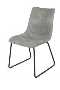 Set van 2 stoelen Louis - lichtgrijs