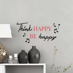 Muursticker Think Happy