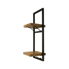 Wandplank Levels 25x70cm – mangohout/ijzer