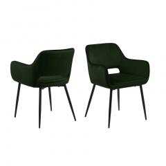 Set van 2 stoelen Dani - olijfgroen