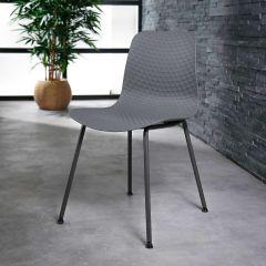 Set van 4 stoelen Demi - grijs
