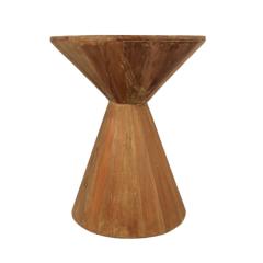 Bijzettafel Hourglass ø40cm - gerecycled hout