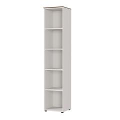 Boekenkast Anaelle 40cm - wit/walnoot