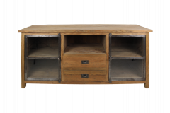 TV meubel Hunter 160cm - reclaimed teak / ijzer
