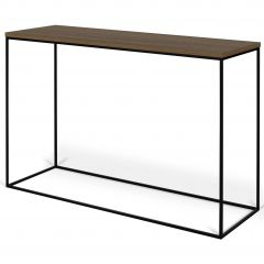 Sidetable Gleam - walnoot/staal
