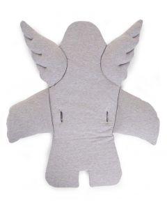 Stoelkussen engel - grijs