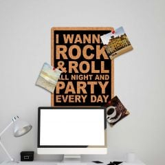 Muursticker prikbord Rock & Party