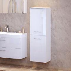 Kolomkast Florent 40cm met 2 deuren - wit