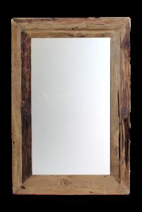 Wandspiegel Rustiek - 90x70 cm - drijfhout teak