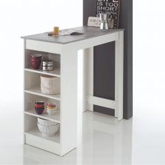 Bartafel De Marchi 115cm - wit/beton
