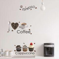 Muurstickers Espresso - Large