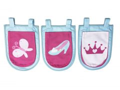 Set van 3 opbergzakjes Princess II