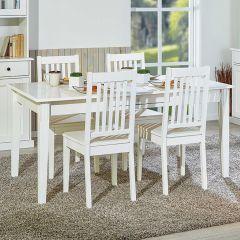 Eettafel Westerland 160x90cm landelijk - wit