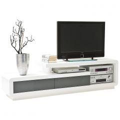 Tv-meubel Dario 170cm - hoogglans wit/grijs