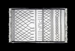 Vloerkleed - katoen - 90x60 cm - zwart / wit