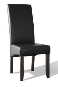 Set van 2 kunstlederen stoelen Joan - zwart