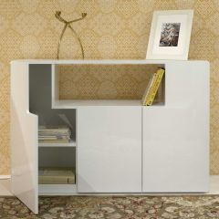 Dressoir Jane 120cm - glanzend wit